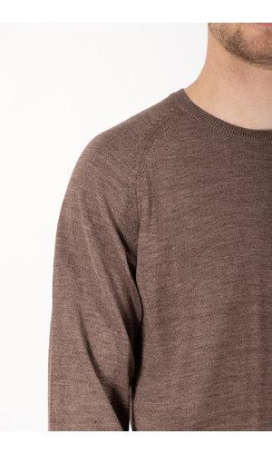 Universal Works Universal Works Sweater / Loose Pocket Crew / Brown Marl