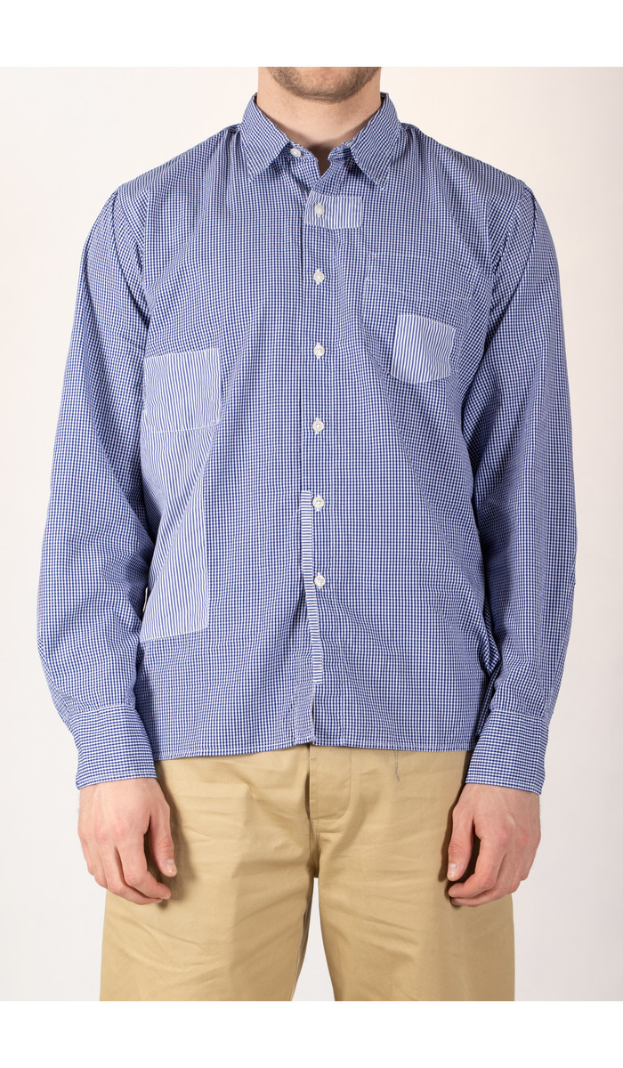 Universal Works Universal Works Shirt / Patched Shirt / Navy