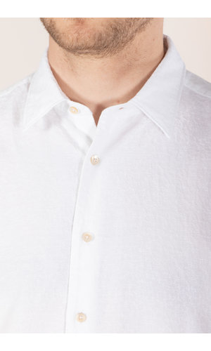 7d 7d Overhemd / Fourty-Four / Jacquard Wit