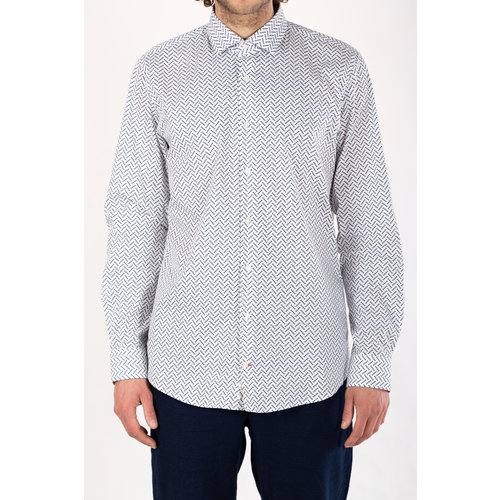 Strellson Strellson Overhemd / Stan / Wit Blauw