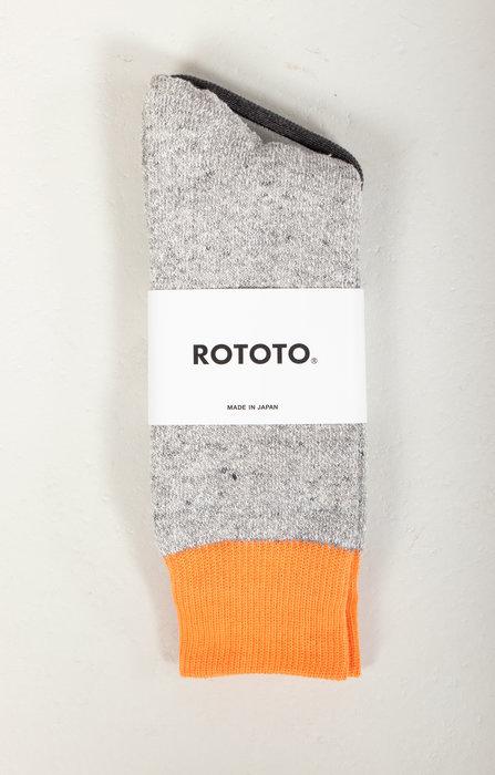 RoToTo RoToTo Sock / Double Face / Orange