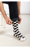 RoToTo Sock / Checkerboard / White Black