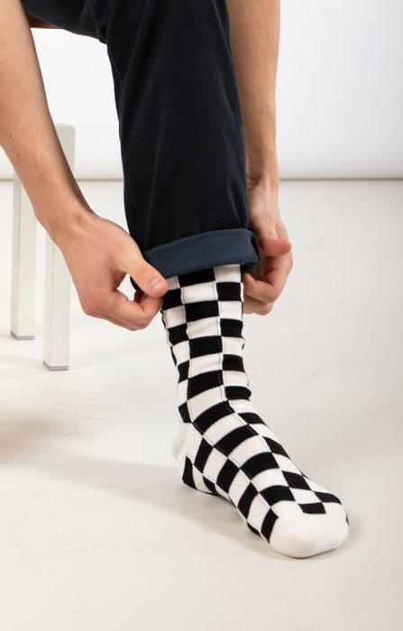 RoToTo RoToTo Sock / Checkerboard / White Black