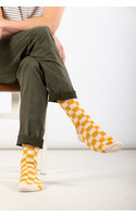 RoToTo Sock / Checkerboard / Yellow Ivory