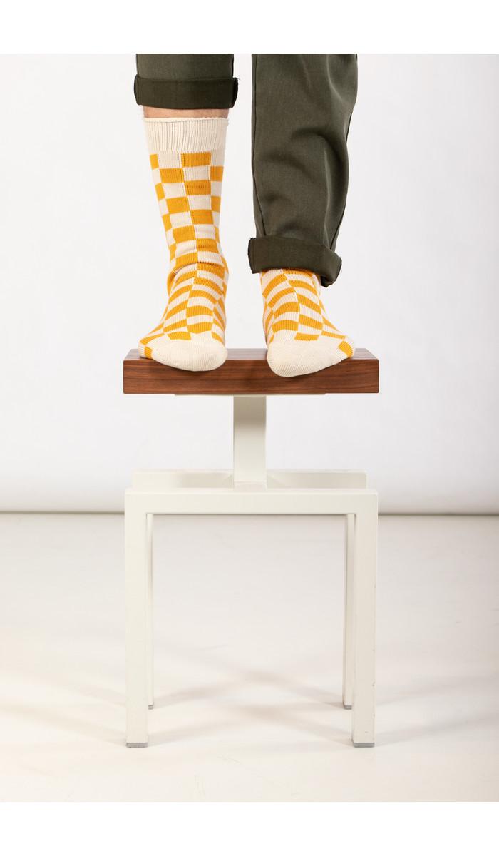 RoToTo RoToTo Sock / Checkerboard / Yellow Ivory