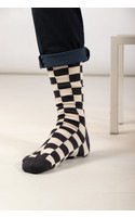 RoToTo Sock / Checkerboard / Grey Ivory