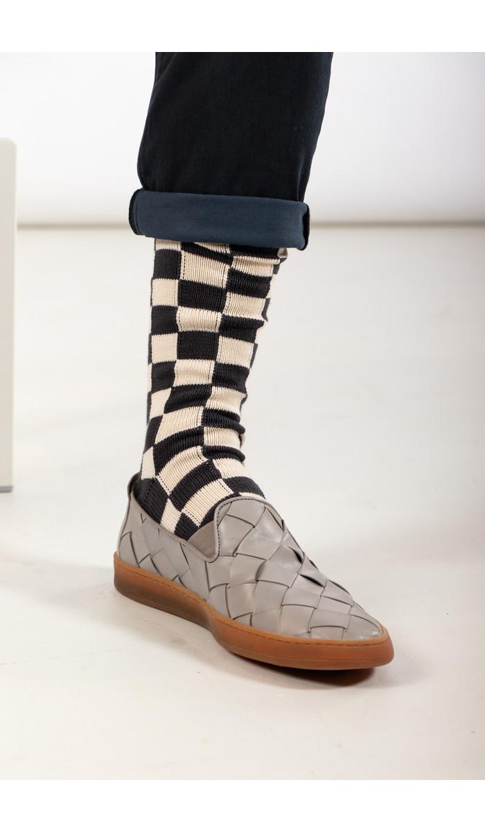 RoToTo RoToTo Sok / Checkerboard / Grijs Ivoor