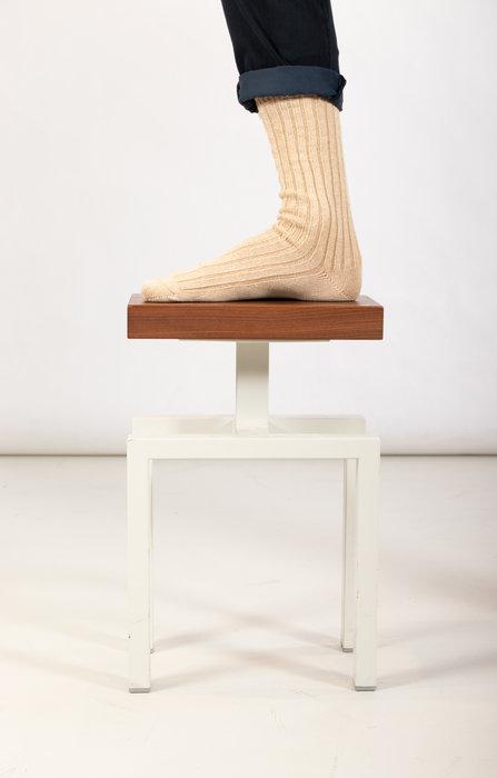 RoToTo RoToTo Sock / Ribbed Crew / Ecru