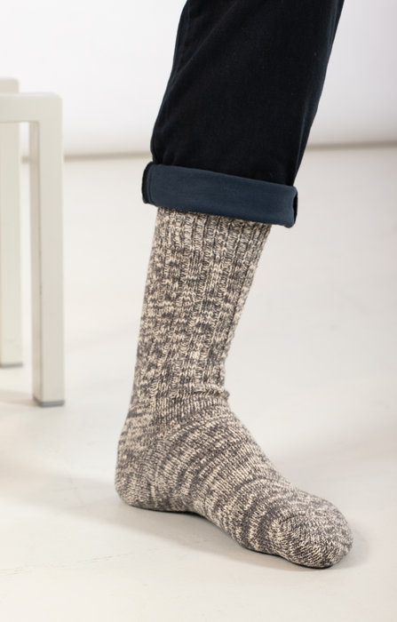 RoToTo RoToTo Sock / Gauge Slub / Mid Grey