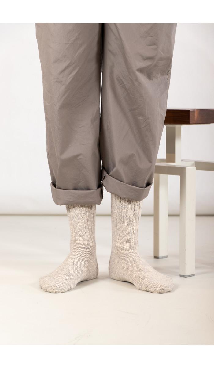 RoToTo RoToTo Sock / Gauge Slub / Light Grey