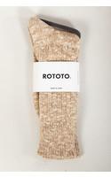 RoToTo Sock / Gauge Slub / Beige