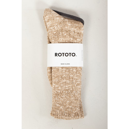 RoToTo RoToTo Sock / Gauge Slub / Beige