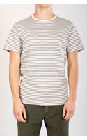 Organic Basics T-shirt / Grey Stripe