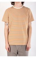 Organic Basics T-shirt / Oker Streep