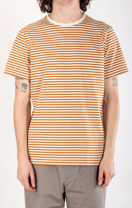 Organic Basics Organic Basics T-shirt / Oker Streep