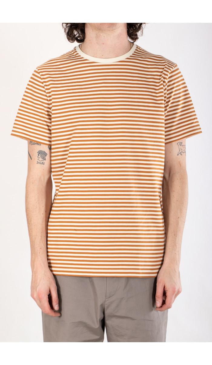 Organic Basics Organic Basics T-shirt / Ochre Stripe