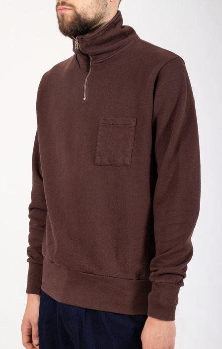 Universal Works Universal Works Sweater / Half Zip / Brown