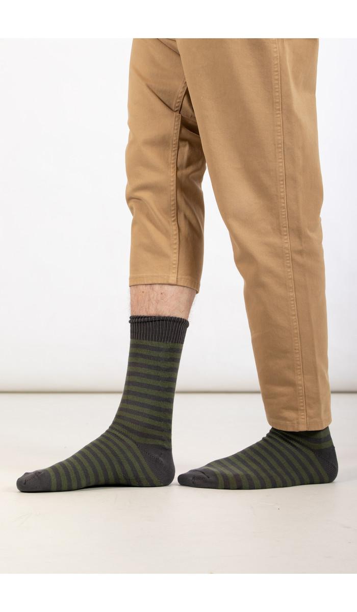 Universal Works Universal Works Sock / Stripe Sock / Green