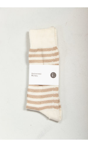 Universal Works Universal Works Sock / Stripe Sock / Ecru