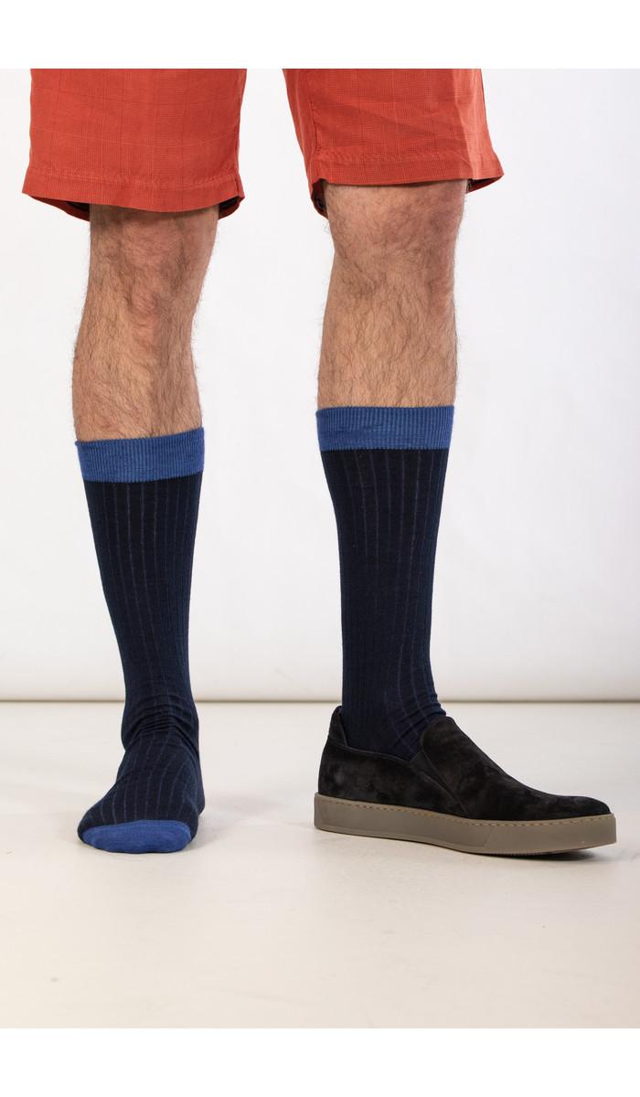 Universal Works Universal Works Sock / Classic Sock / Navy