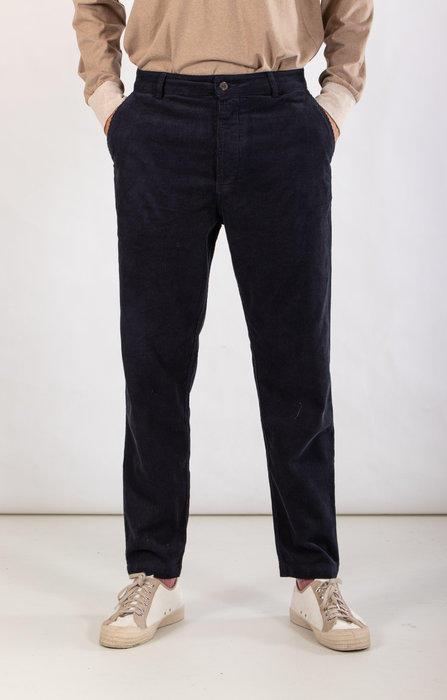 Universal Works Universal Works Trousers / Military Chino / Navy Rib