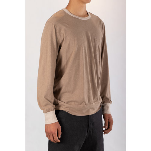 Universal Works Universal Works T-shirt / College Loose Pullover / Sand Marl