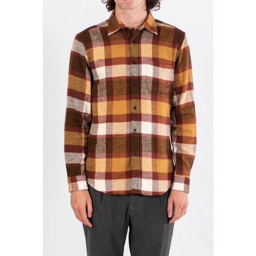 Portuguese Flannel Portuguese Flannel Overhemd / Terracotta / Check