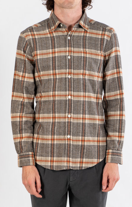 Portuguese Flannel Portuguese Flannel Overhemd / Biblitec / Steen