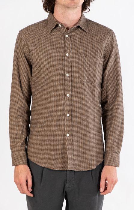 Portuguese Flannel Portuguese Flannel Shirt / Pied Poule / Brown