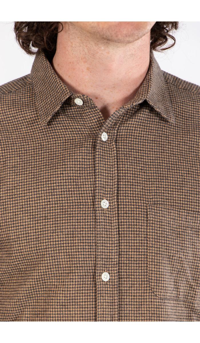 Portuguese Flannel Portuguese Flannel Overhemd / Pied Poule / Bruin