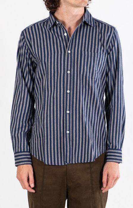 Portuguese Flannel Portuguese Flannel Overhemd / Flannel Stripe / Navy