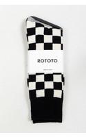 RoToTo Sok / Checkboard / Zwart Ivoor