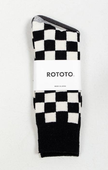 RoToTo RoToTo Sok / Checkboard / Zwart Ivoor