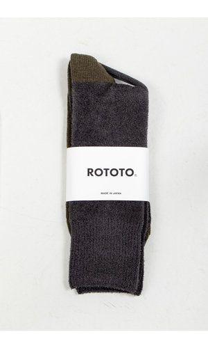 RoToTo RoToTo Sok / Very Velour / Houtskool Olijf