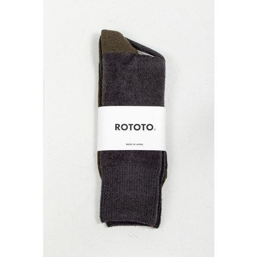 RoToTo RoToTo Sock / Very Velour / Charcoal Olive