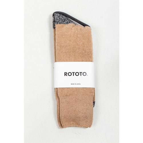 RoToTo RoToTo Sock / Very Velour / Black Camel