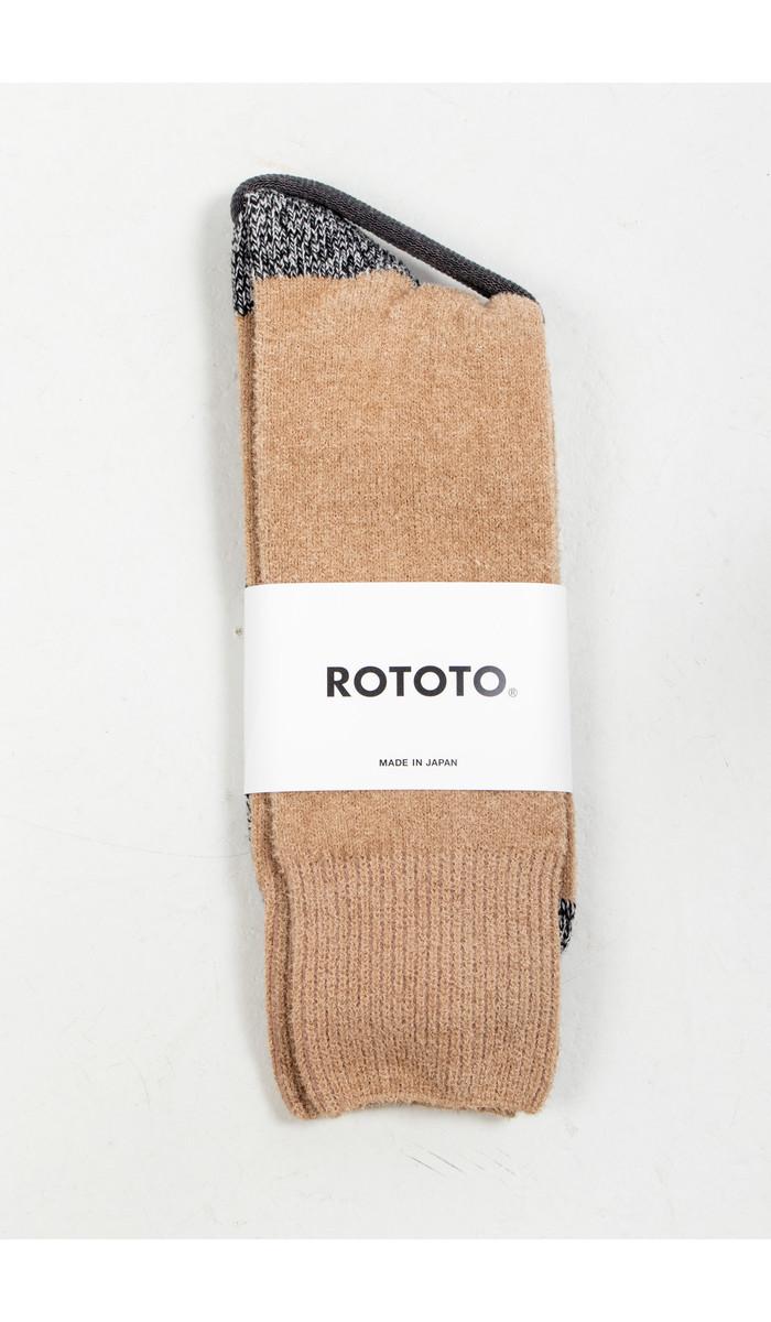 RoToTo RoToTo Sok / Very Velour / Zwarte Kameel