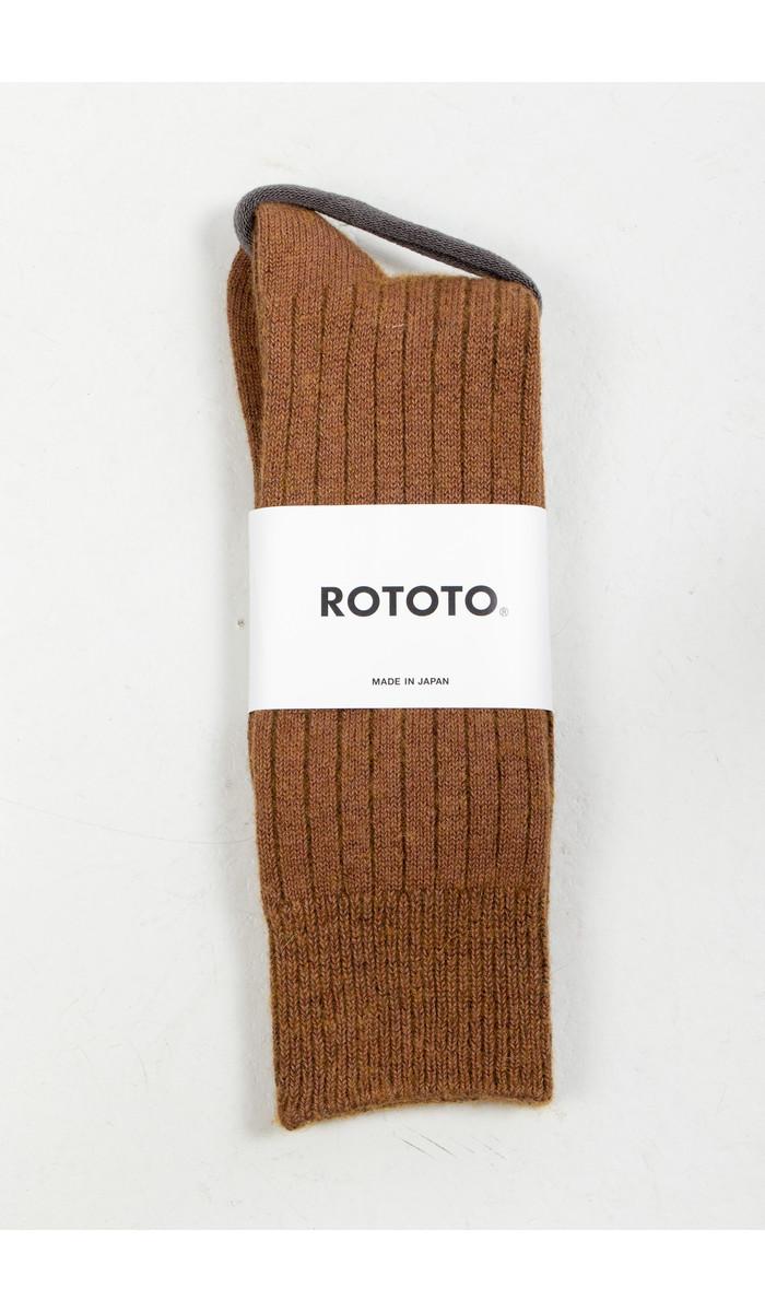 RoToTo RoToTo Sok / Ribbed / Bruin