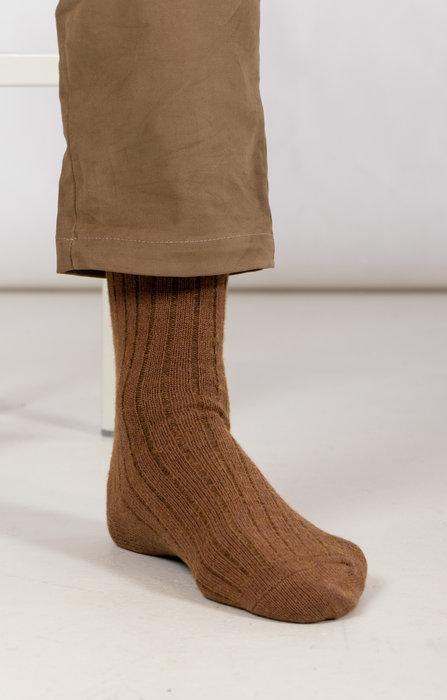 RoToTo RoToTo Sock / Ribbed / Brown