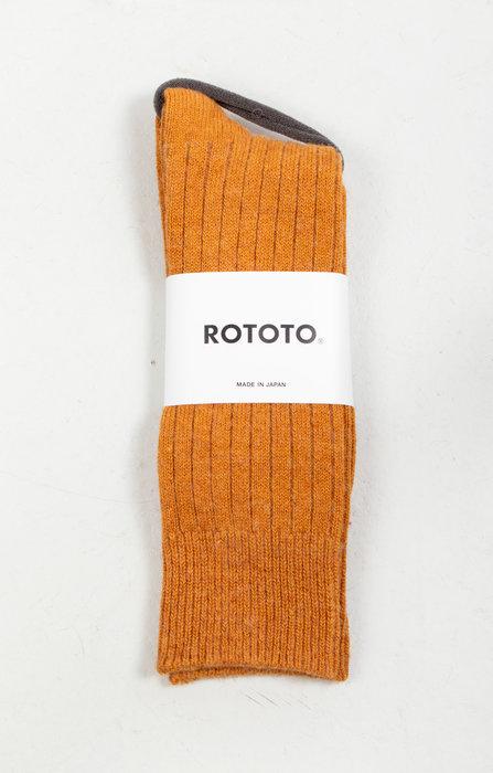 RoToTo RoToTo Sock / Ribbed / Yellow Gold