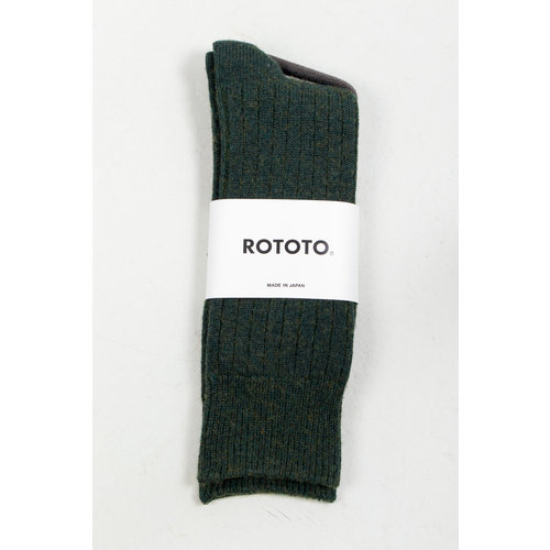 RoToTo RoToTo Sock / Ribbed / Green