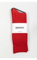RoToTo Sok / Ribbed / Rood
