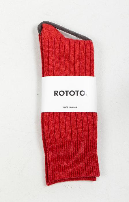 RoToTo RoToTo Sock / Ribbed / Red