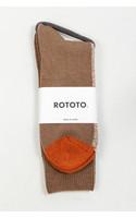 RoToTo Sock / Half & Half / Camel