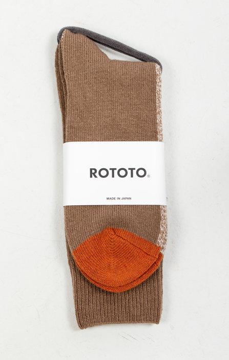 RoToTo RoToTo Sock / Half & Half / Camel