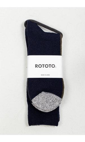 RoToTo RoToTo Sock / Half & Half / Navy Green