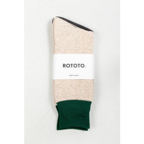 RoToTo RoToTo Sock / Double Face Silk / Dark Green