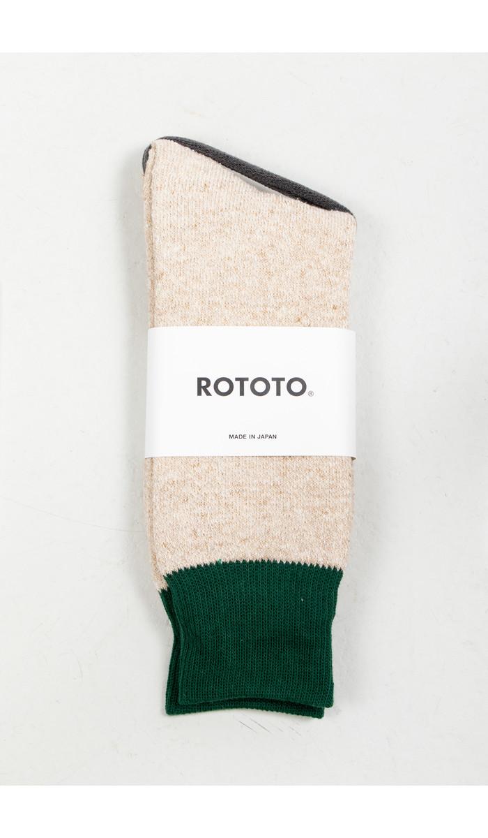 RoToTo RoToTo Sok / Double Face Silk / Donkergroen