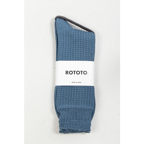 RoToTo RoToTo Sock / Cotton Waffle / Blue