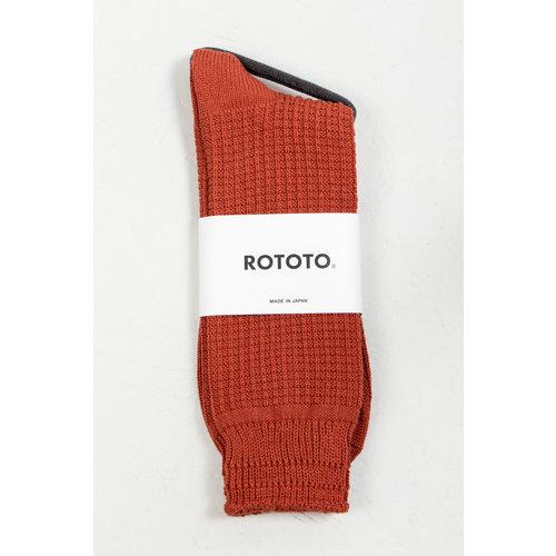 RoToTo RoToTo Sock / Cotton Waffle / Rust
